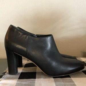 Via Spiga Black Leather Heel Ankle Boots